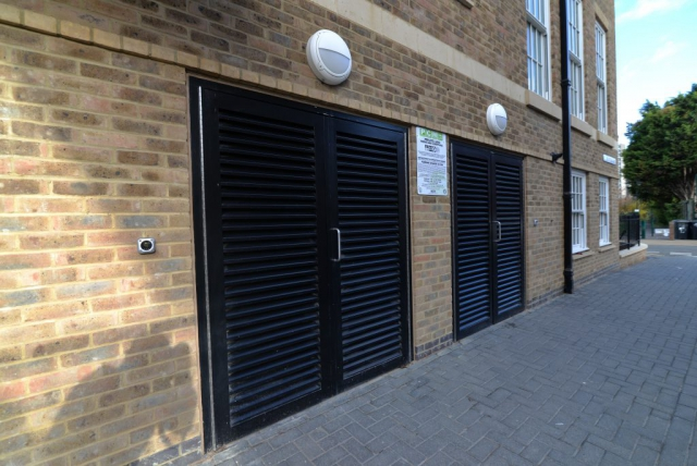 INDUSTRIAL STEEL LOUVERED DOORS FABRICATED TO LPS1175 SR2 AND PAS24 STANDARD. PRODUCED AND INSTALLED BY PREMIER SECURITY CONSULTANTS LTD.