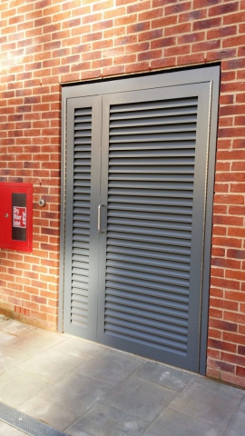 INDUSTRIAL STEEL LOUVERED DOORS FABRICATED TO LPS1173 SR2 AND PAS24 STANDARD. PRODUCED AND INSTALLED BY PREMIER SECURITY CONSULTANTS LTD.