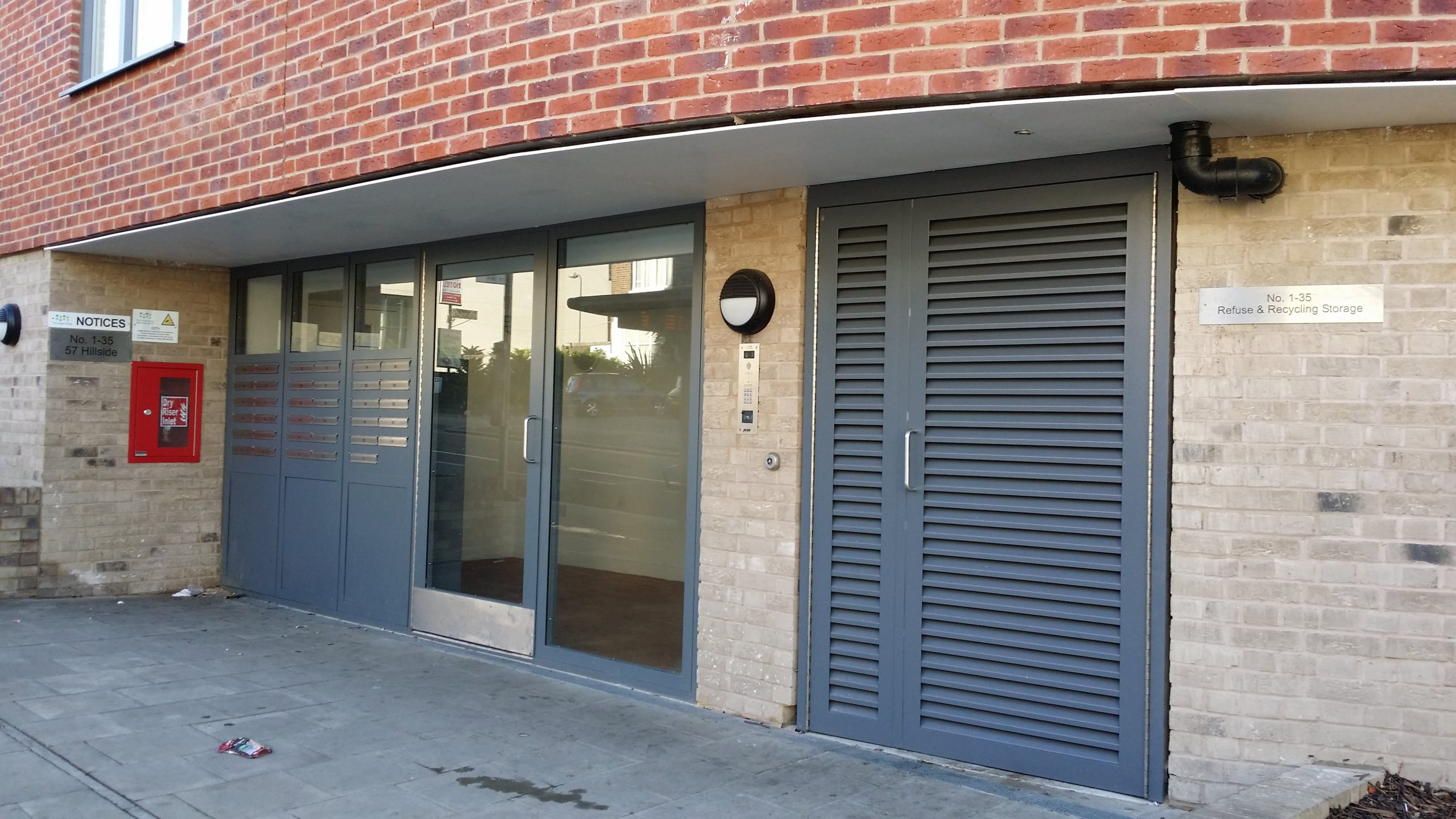 INDUSTRIAL COMMUNITY ENTRANCE STEEL DOORS FABRICATED TO LPS1175 SR2 AND PAS24 STANDARD BY PREMIER SECURITY CONSULTANTS LTD.