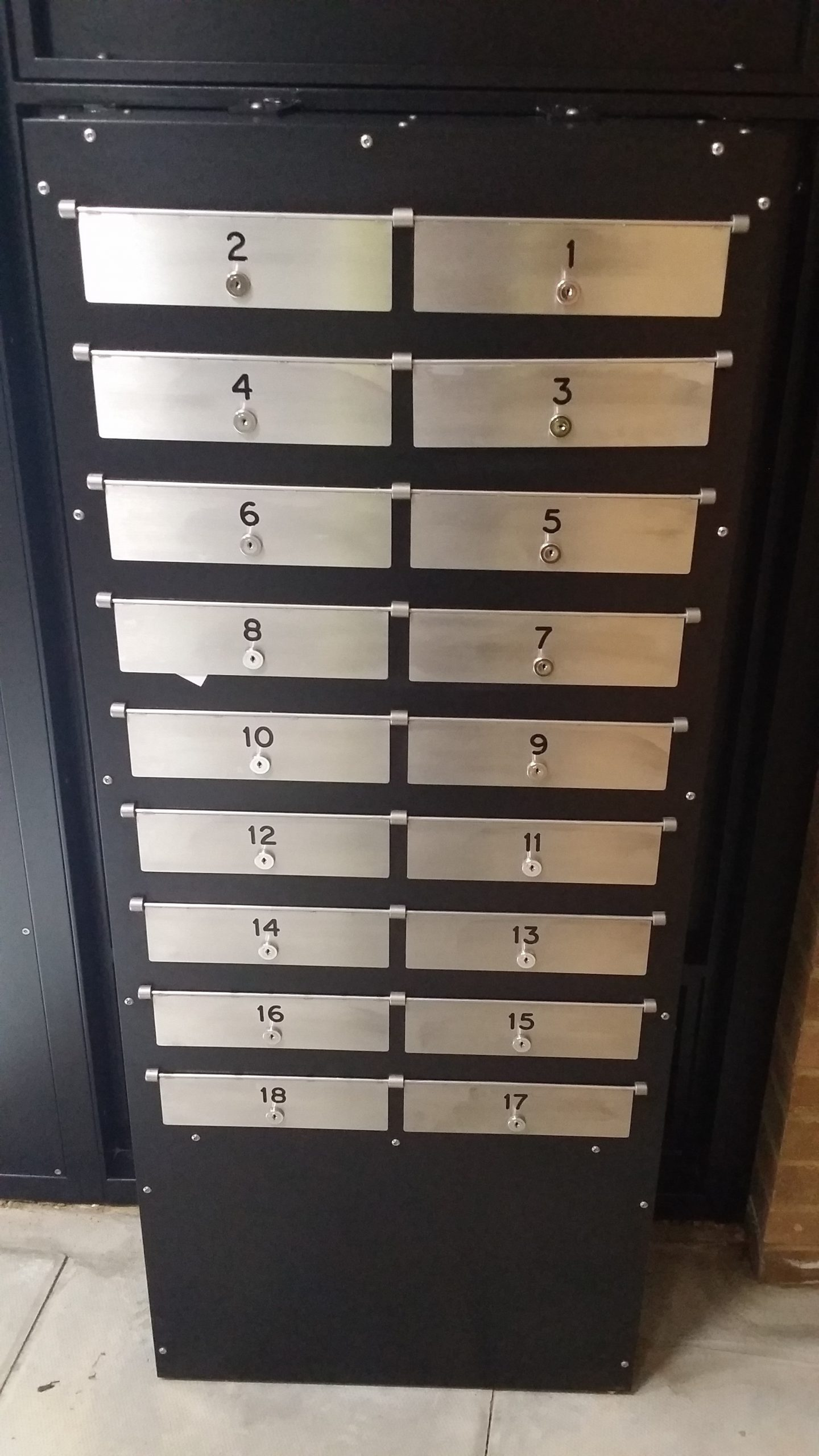 SBD STEEL SECURITY MAILBOX SYSTEM.