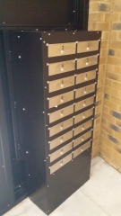 STEEL SECURITY MAILBOX SYSTEM WITH SECURED BY DESIGN CERTIFICATION FABRICATED AND INSTALLED BY PREMIER