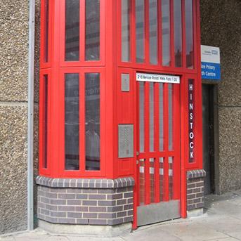 STEEL PORTCULLIS COMMUNITY ENTRANCE DOOR SET. SECURED BY DESIGN.