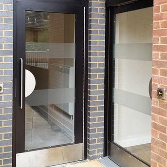 JANSEN SECTION LPS1175 SR2 COMMUNAL ENTRANCE DOOR AND LOUVRE PANEL.