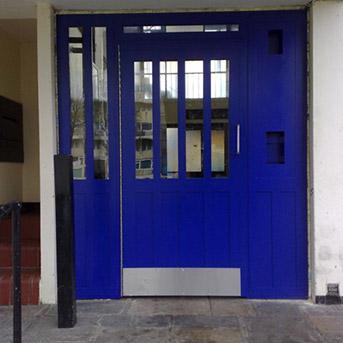 STEEL SECURED BY DESIGN PORTCULLIS DOOR SET INSTALLED IN LONDON BY PREMIER SECURITY CONSULTANTS