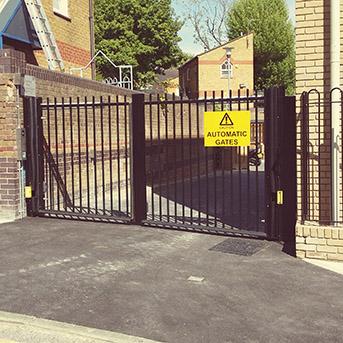 VEHICLE ACCESS STEEL GATES INSTALLED IN ESSEX