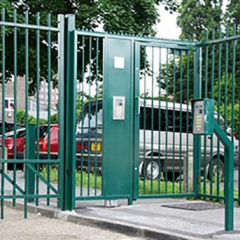 PEDESTRIAN ENTRY SYSTEM STEEL GATES