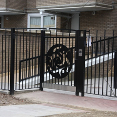 COMMUNITY ENTRANCE STEEL GATE AND FENCING