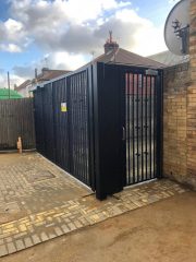 VEHICLE AND PEDESTRIAN LPS1175 SR2 STEEL GATES ALSO TESTED TO SR3 STANDARD