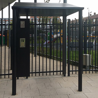 PUBLIC ENTRY STEEL GATES INSTALLED BY PREMIER SECURITY CONSULTANTS