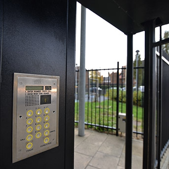 STEEL GATES ACCESS CONTROL ENTRY SYSTEM
