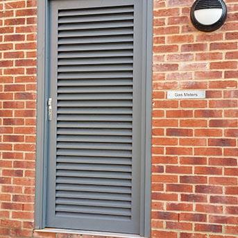 BOILER ROOM LOUVERED STEEL DOOR. SBD. PAS24 LPS1175 SR2