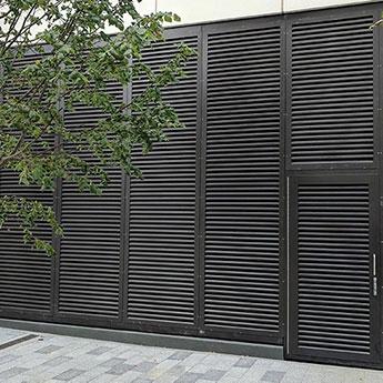 SECURED BY DESIGN STEEL LOUVRE DOORS INSTALLED IN CAMDEN. PAS24 LPS1175 SR2