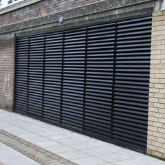 LOUVERED DOOR FABRICATED IN STEEL TO PAS24 STANDARD. SECURED BY DESIGN PASSED. INSTALLED IN ESSEX. LPS1175 SR2