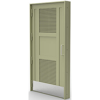 S1175 SR2 AND SR3 90-MINUTE FIRE-RATED TWIN-LOUVRE DOOR