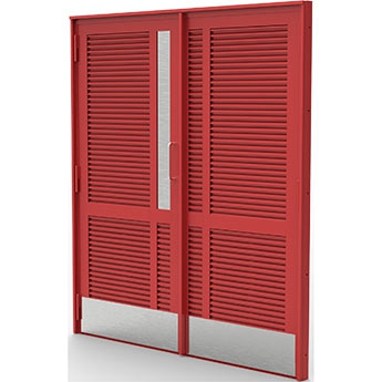 SECURED BY DESIGN LPS1175 SR2 AND SR3 STEEL LOUVRE FIRE DOORS.